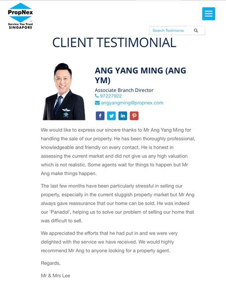 Ang Yang Ming 汪扬铭 testimonial photo #1